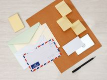 Business papery mockup Stock Photo
