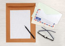 Business papery mockup Royalty Free Stock Photography