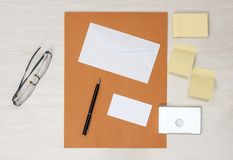 Business papery mockup Royalty Free Stock Photo
