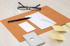 Business papery mockup Royalty Free Stock Photos