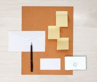 Business papery mockup Stock Photos