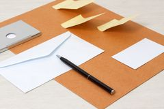 Business papery mockup Stock Images
