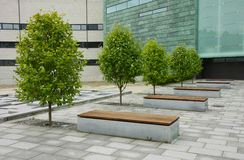 Business park. A calm place to have some rest in the middle of a modern business park Stock Image