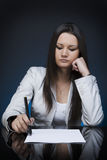 Business partner. A business woman at a meeting table Royalty Free Stock Images