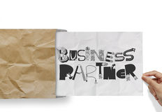 BUSINESS PARTNER as concept Royalty Free Stock Photo