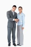 Business partner with clipboard Royalty Free Stock Image