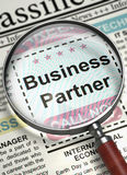 Business Partner Hiring Now. 3D. Stock Image