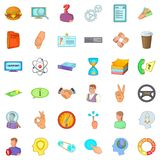 Business partner icons set, cartoon style. Business partner icons set. Cartoon set of 36 business partner vector icons for web isolated on white background Stock Photography