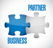 Business partner puzzle illustration design Stock Photography