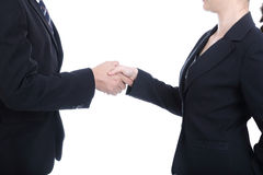 Business partner shake hand for successful business. With white background Royalty Free Stock Image