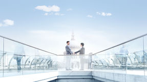 Business Partner Shaking Hands in the City Royalty Free Stock Photo