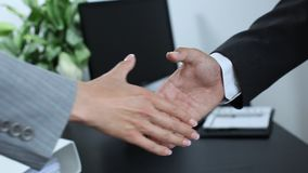 Business partner shaking hands 2 stock video