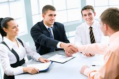 Business partners. Image of business partners making an agreement Royalty Free Stock Images