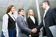 Business partners. Image of business partners making an agreement Stock Photos