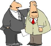 Business partners. This illustration depicts two businessmen Royalty Free Stock Images
