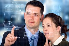 Business partners analyzing a Royalty Free Stock Image