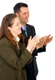 Business partners applauding Royalty Free Stock Image