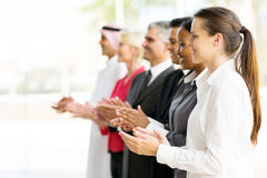 Business partners applauding Royalty Free Stock Images