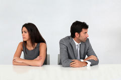 Business partners being upset Stock Photography