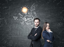 Business partners and business idea Stock Photo