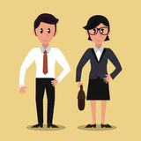 Business partners cartoon. Vector illustration graphic design Stock Photography