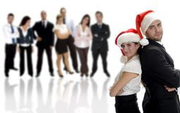 Business partners celebrating christmas Royalty Free Stock Image