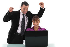 Business partners celebrating Stock Photography