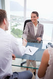 Business partners closing a deal Royalty Free Stock Photo