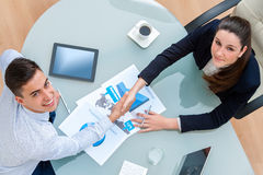 Business partners closing a deal. Royalty Free Stock Photo