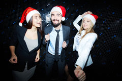 Business partners clubbing Royalty Free Stock Images