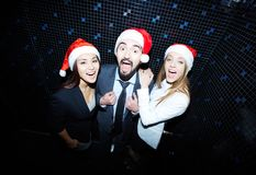Business partners clubbing Royalty Free Stock Photo