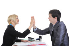 Business partners come to an agreement. Stock Images