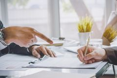 Business partners contract agreement success. stock photography