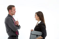 Business partners in conversation Stock Photo