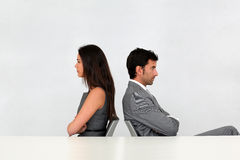 Business partners in disagreement Royalty Free Stock Image