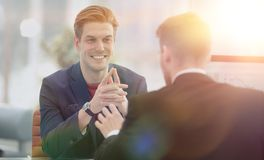 Business team working together to achieve better results Royalty Free Stock Photography