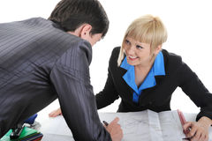 Business partners are discussing a plan. Stock Image