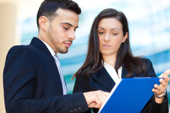 Business partners discussing with some documents Royalty Free Stock Image