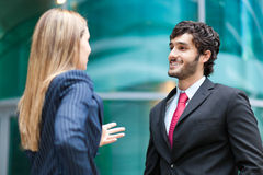 Business partners discussing together Royalty Free Stock Photo
