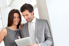 Business partners discussing work Stock Image
