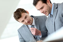 Business partners discussing work Stock Photos