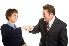 Business Partners Fist Bump Stock Images