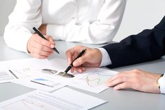 Business partners hands royalty free stock images