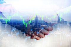 Business partners handshake after agreement or contract conclude, abstract image