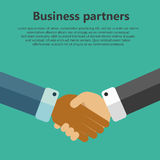 Business partners. Handshake businessman agreement. Shaking hands. Business partners concept. Successful concept vector illustration in flat style with Royalty Free Stock Photos