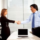Business partners handshaking Stock Image
