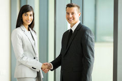 Business partners handshaking Royalty Free Stock Image