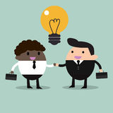 Business partners handshaking. Partner, client, handshake, corporation, employment, buy, suits, business Stock Image