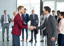 Business partners handshaking Royalty Free Stock Photo
