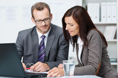 Business partners having a discussion Royalty Free Stock Images